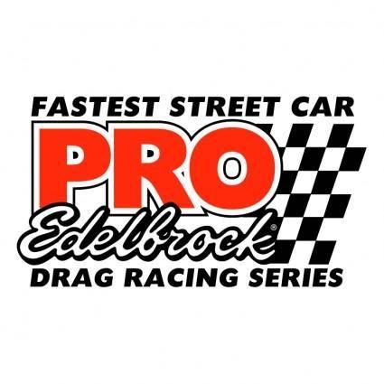 free vector Pro edelbrock drag racing series