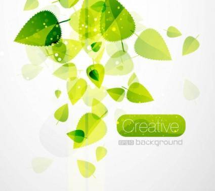 free vector Spring green leaves 02 vector