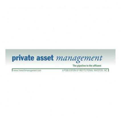 free vector Private asset management