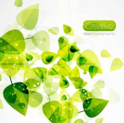 free vector Spring green leaves 03 vector