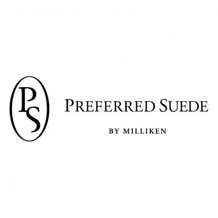 Preferred suede