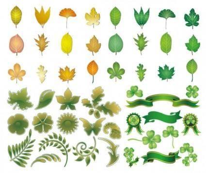 Leaves theme vector