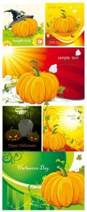 free vector Halloween pumpkin element vector