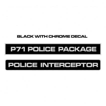 free vector Police interceptor decals