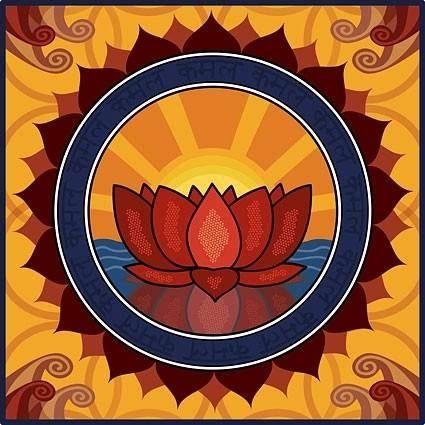 free vector Lotus motif vector