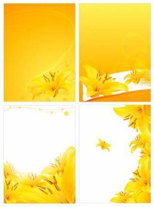Golden lily vector