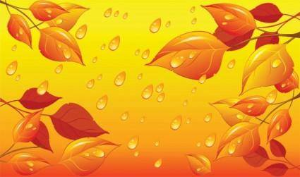 Drops leaves vector
