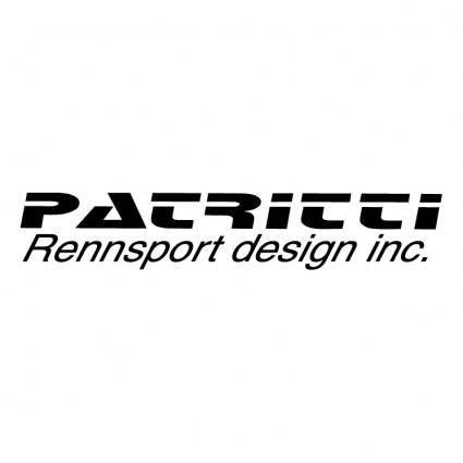 free vector Patritti rennsport design