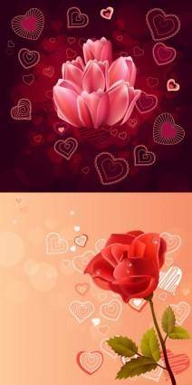 free vector Pink roses red roses vector