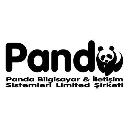 free vector Panda bilgisayar