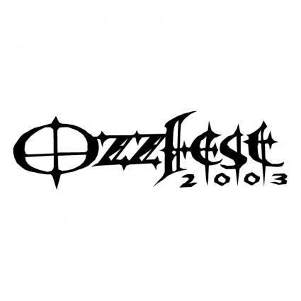 free vector Ozzfest 2003