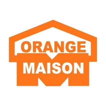 free vector Orange maison