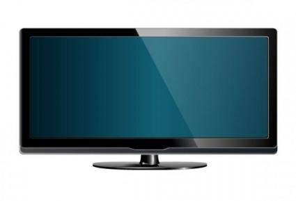 Led tv 02 vector
