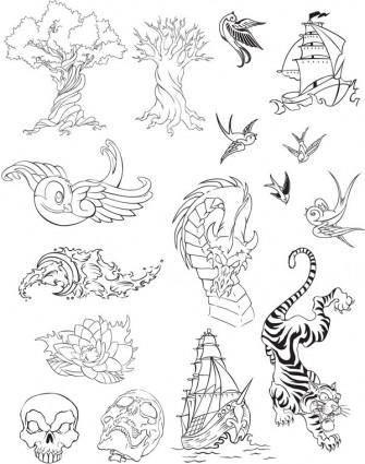 free vector Variety totem vector