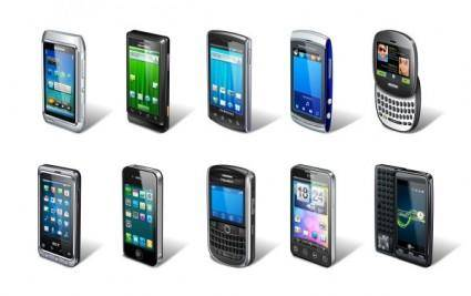 Wide range of smart phone vector