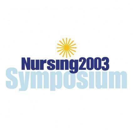 free vector Nursing 2003 symposium