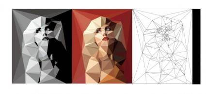 Blocks of color figures vector