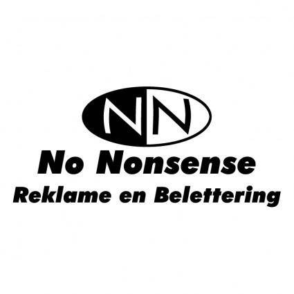 free vector No nonsense 0