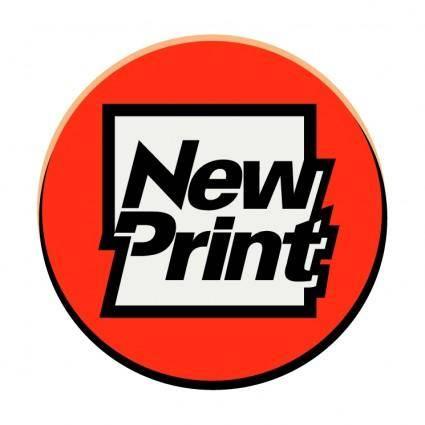 free vector New print