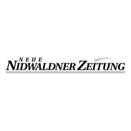 free vector Neue nidwaldner zeitung