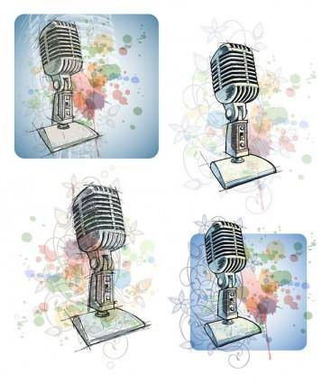 free vector Hand microphone vector