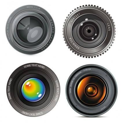 free vector Hd camera lens vector