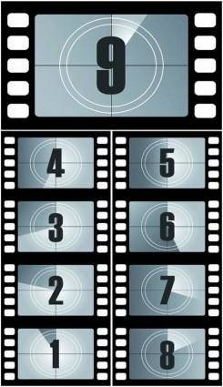 Digital countdown vector film titles