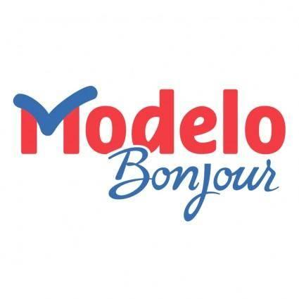 free vector Modelo bonjour 0