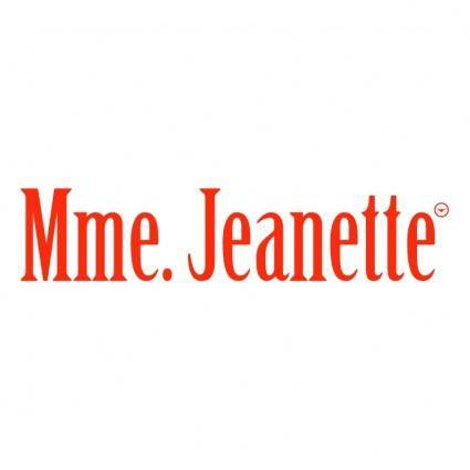 free vector Mme jeanette