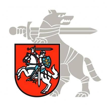 free vector Ministry of national defence of the republic of lithuania