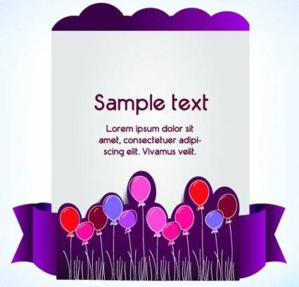Clip style text template vector 4