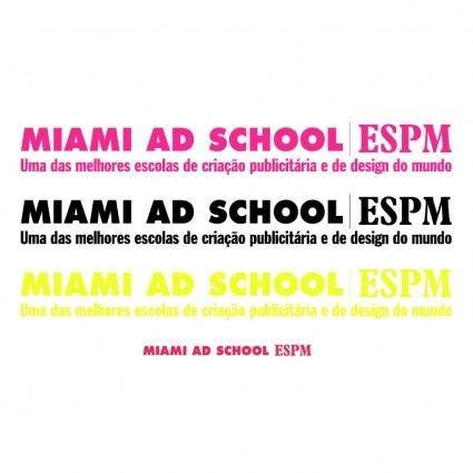 free vector Miami ad schoolespm
