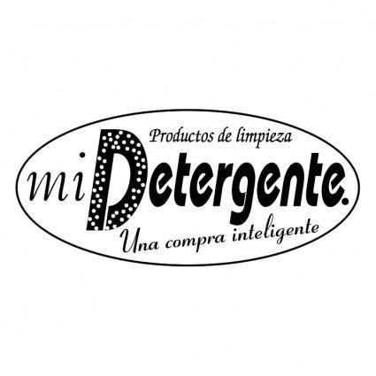 free vector Mi detergente