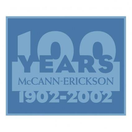 free vector Mccann erickson 100 years