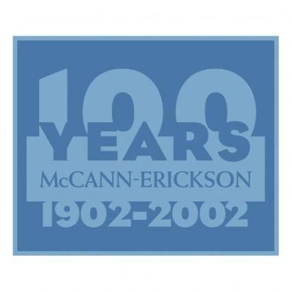 Mccann erickson 100 years