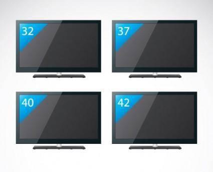free vector Flatpanel tv vector