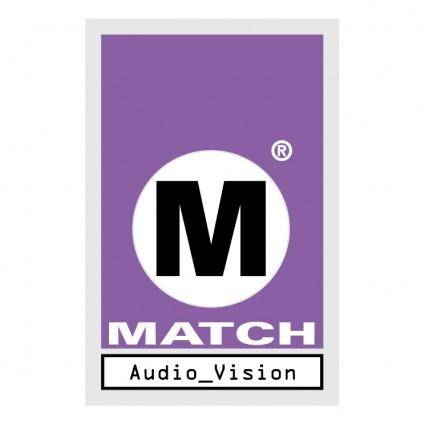 free vector Match audio video