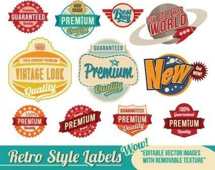 Nostalgia trend label vector