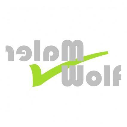 free vector Maler wolf