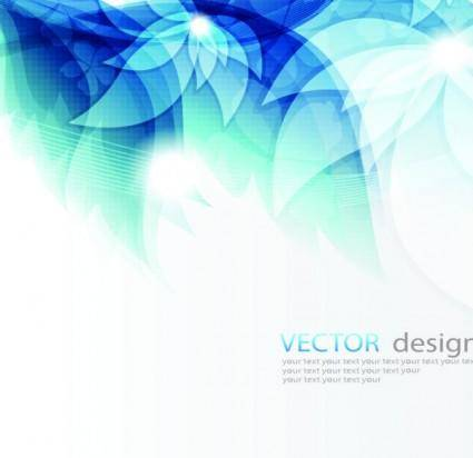 free vector Fresh the blue mosaic streamer text template vector