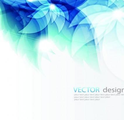 Fresh the blue mosaic streamer text template vector