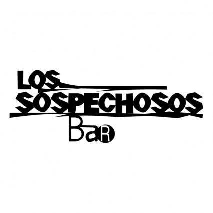 free vector Los sospechosos bar