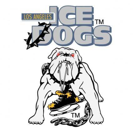 free vector Long angeles ice dogs