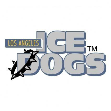 free vector Long angeles ice dogs 0