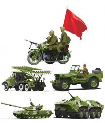 Military equipment vector