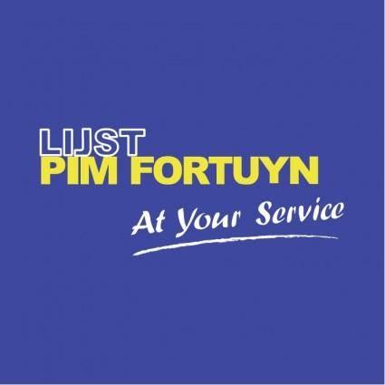 Lijst pim fortuyn
