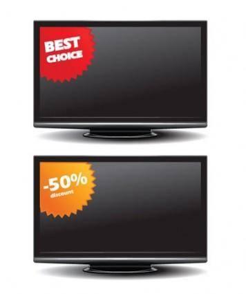 Flatpanel tv sales vector