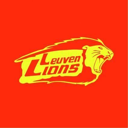 free vector Leuven lions