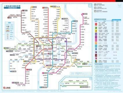 Shanghai metro map in pdf format
