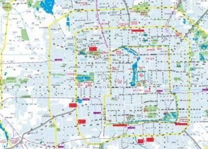 free vector Beijing city map vector